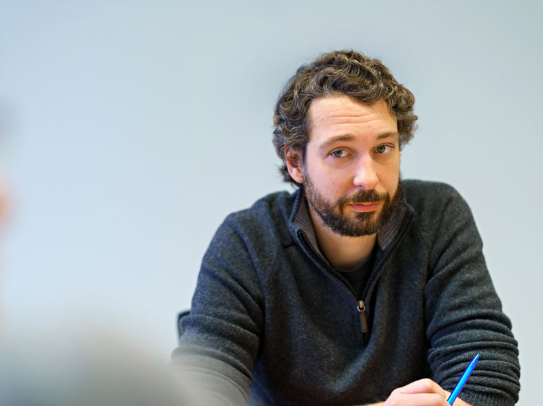 Daniel Simon bringt die Sichtweise der Raumplaner mit in die Diskussion
