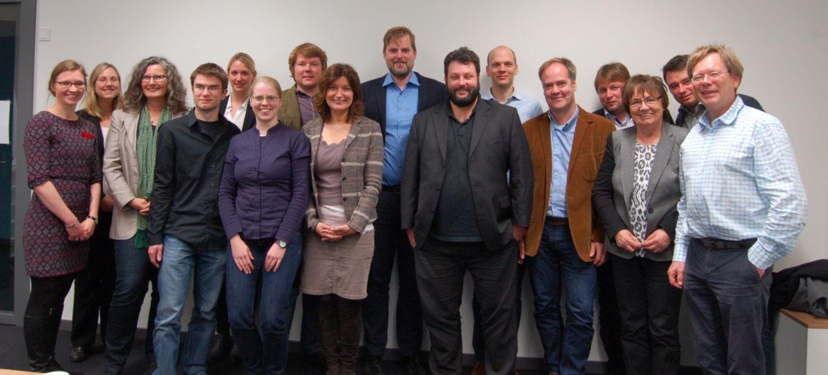 Teilnehmer*innen des Verbundprojektes ISi-Speech und Vertreterinnen des Projektträgers VDI/VDE Innovation + Technik GmbH