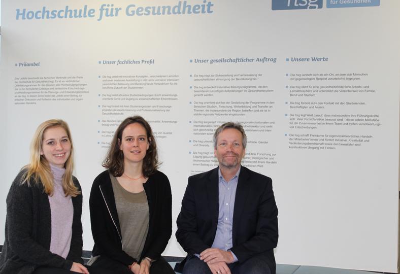 Das TheraAssist-Projektteam besteht aus den hsg-Wissenschaftler*innen Alina Rieckmann, Franziska Weber und Prof. Dr. Christian Grüneberg.