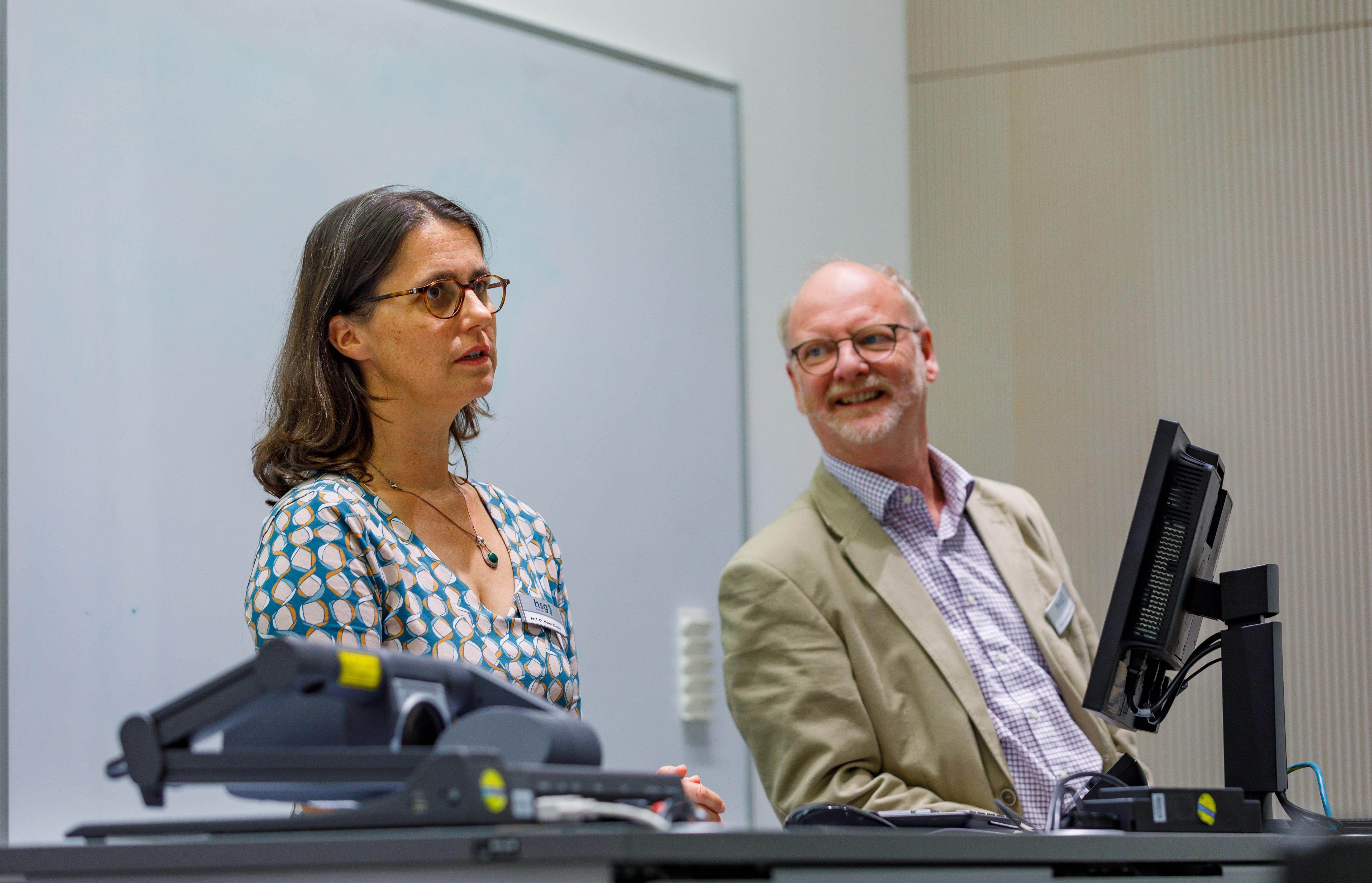 Prof. Dr. Heike Köckler und Dr. Wolfgang Deiters.