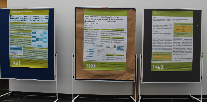 Poster der Master-Studierenden der hsg Bochum