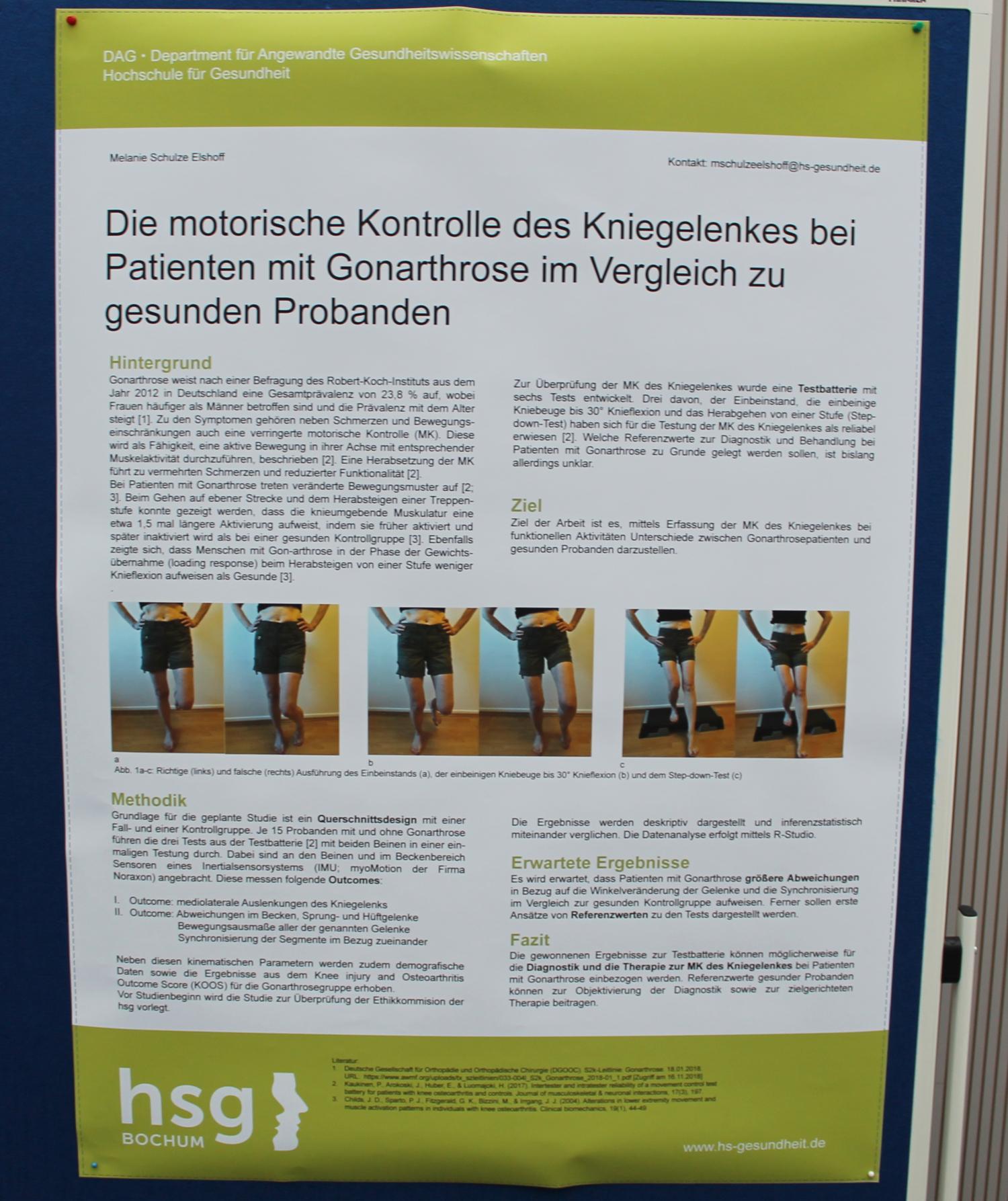 Poster über eine Master-Arbeit