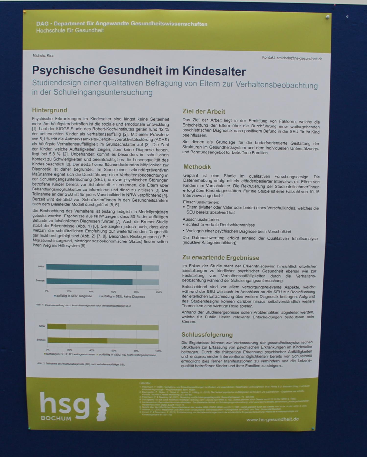 Das Poster: 'Psychische Gesundheit im Kindesalter'