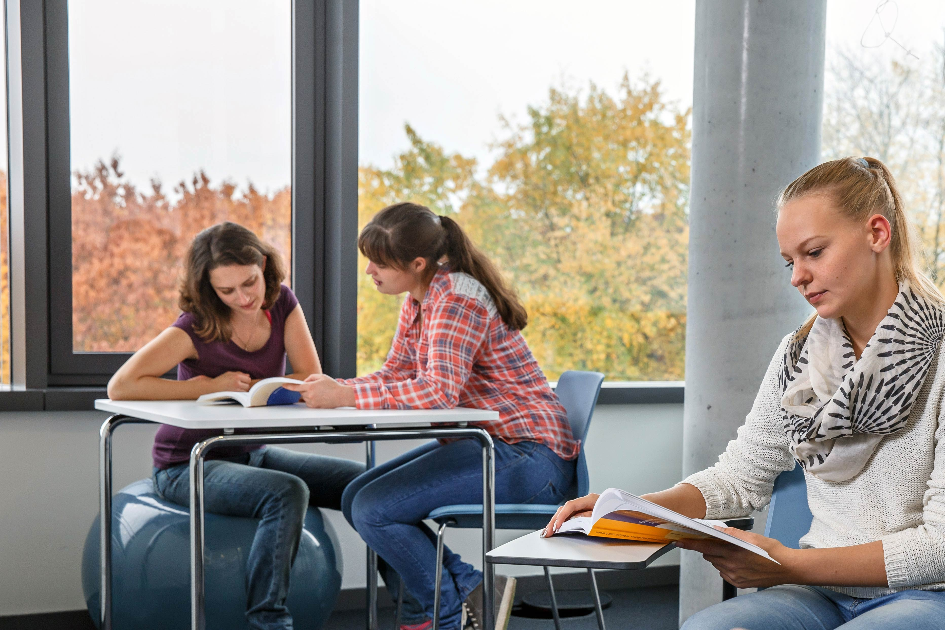 Studierende der hsg Bochum lernen gemeinsam.