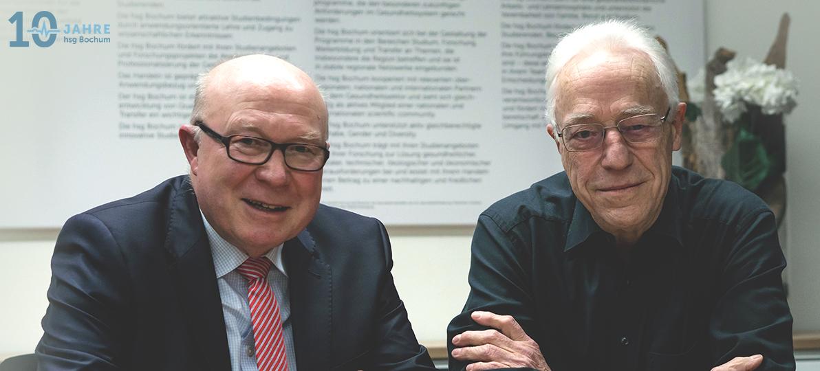 Helmut Breitkopf und Dr. Bernhard Wiebel (im Bild rechts)