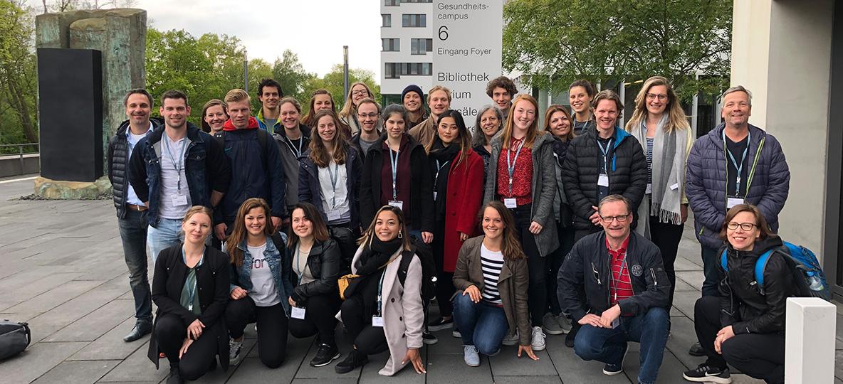 Gruppenbild der Teilnehmer der International Week an der hsg Bochum. Foto: hsg Bochum