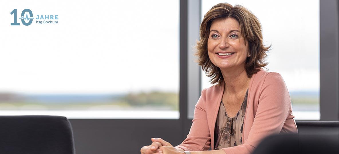 Prof. Dr. Kerstin Bilda; Vizepräsidentin für den Bereich Forschung an der hsg Bochum. Foto: hsg Bochum/Jürgen Nobel
