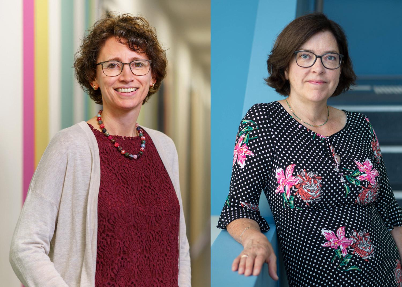 Angela Rocholl und Prof.in Dr. Nicola H. Bauer arbeiten im Studienbereich Hebammenwissenschaft an der hsg Bochum.