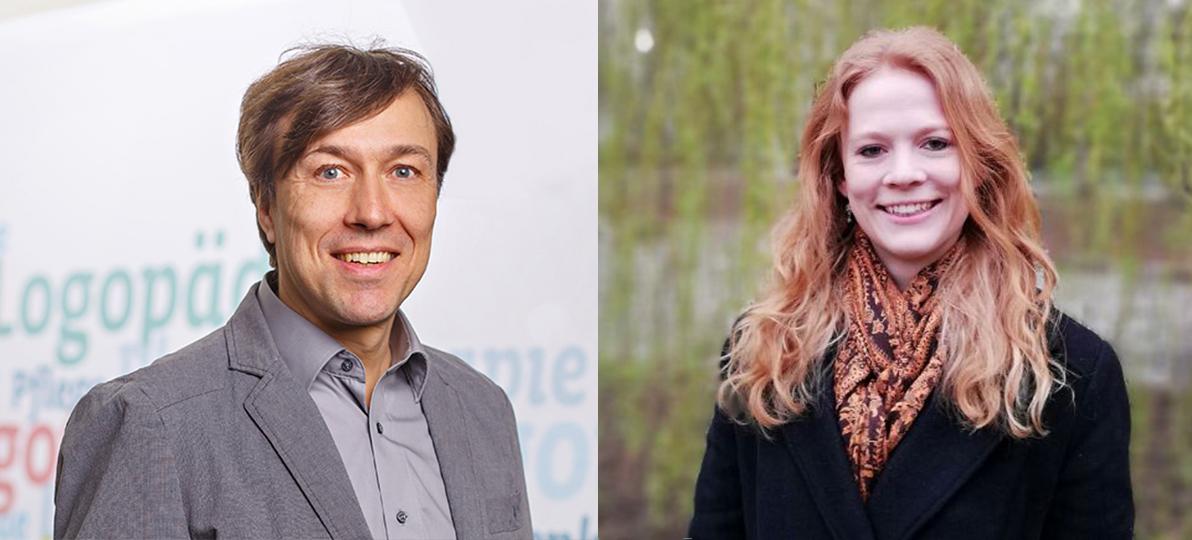 Zu sehen sind Prof. Dr. Schascha Sommer (links) und Astrid Hönekopp (rechts).