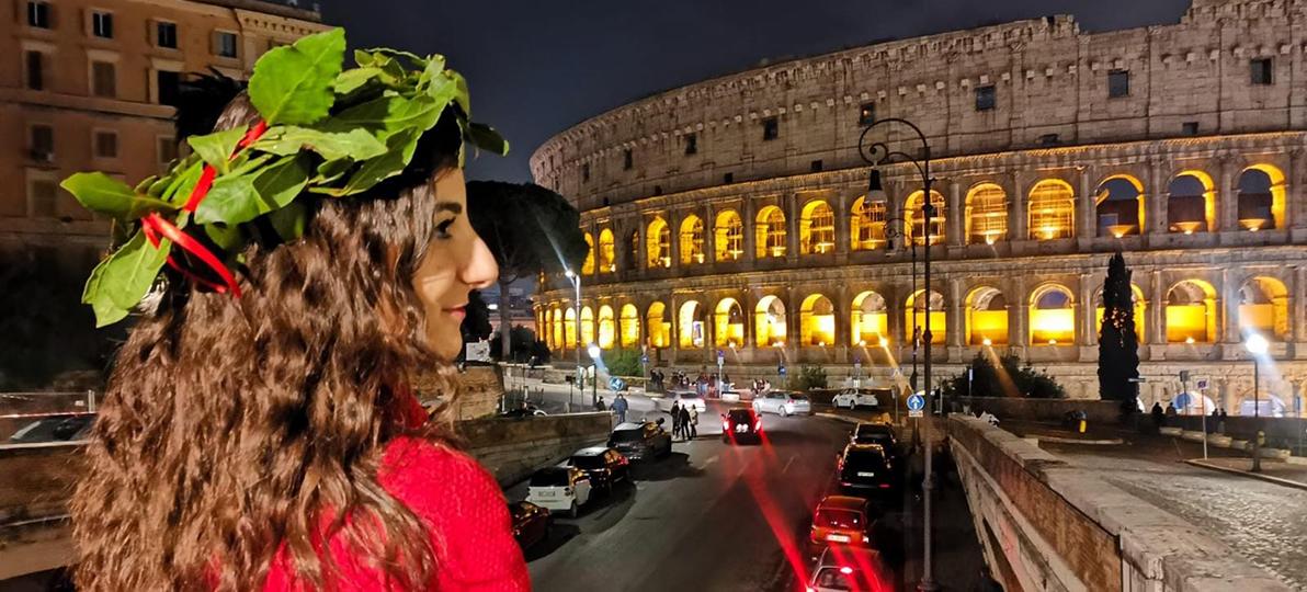 Das Bild zeigt Roberta Caruso in ihrer Heimat Italien.