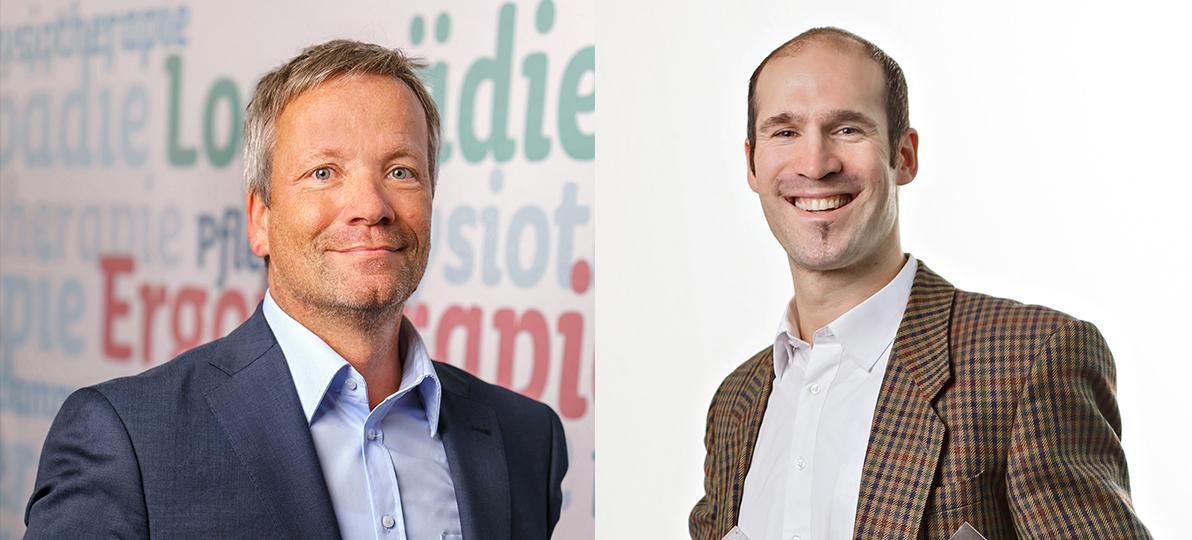 Zusehen sind Prof. Dr. Christian Grüneberg links und Prof. Dr. Christian Thiel rechts.